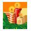 Новогодняя свечка