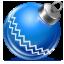 Синий елочный шарик